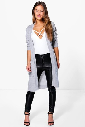 boohoo Petite Midi Length Cardigan With Pockets