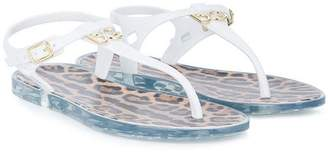 Dolce & Gabbana logo T-bar sandals