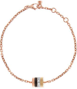 Boucheron Quatre Classique 18-karat Rose, Yellow And White Gold Diamond Bracelet