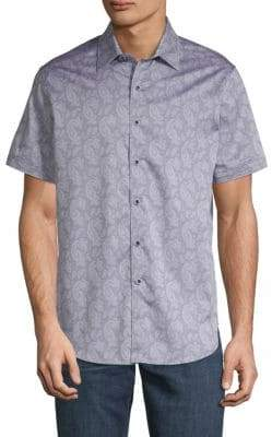 Robert Graham Ballina Ridge Cotton Button-Down Shirt
