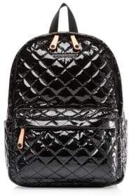 MZ Wallace Small Metro Patent Quilted Nylon Backpack