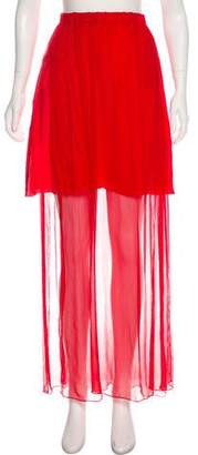 Alexis Mabille Sheer Maxi Skirt
