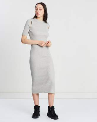 Topshop Spliced Knitted Dress