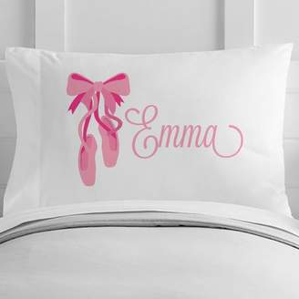 4 Wooden Shoes Personalized Ballerina Toddler Pillow Case