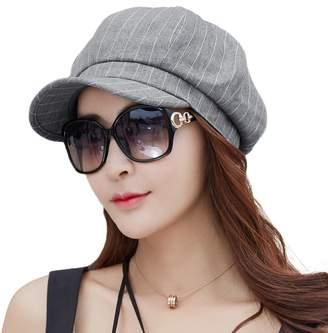 08156ecb8c7 Siggi Comhats Womens Newsboy Cabbie Cap Visor Beret Baker Hat Painter Caps  Darkgray