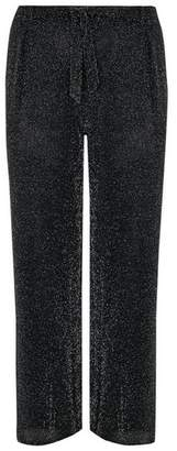 Evans Black Sparkle Wide Leg Trousers