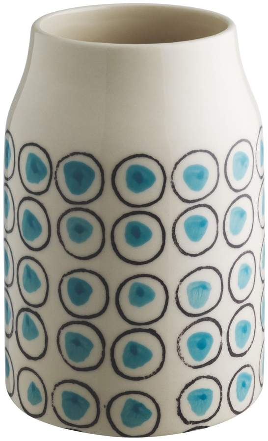 Durdle Blue patterned vase
