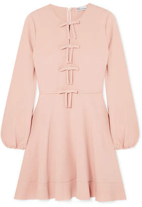 Red Valentino Bow Detailed Crepe Mini Dress Pink