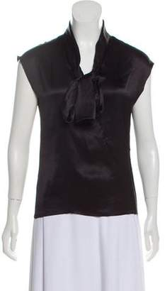 Lanvin Silk Short Sleeve Top