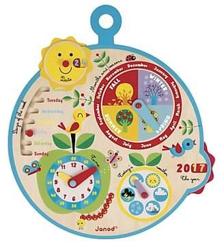 Janod Over Time Wooden Educational Calendar Clock