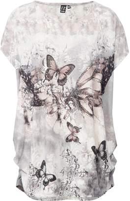 Dorothy Perkins Womens *Izabel London Grey Butterfly Print T