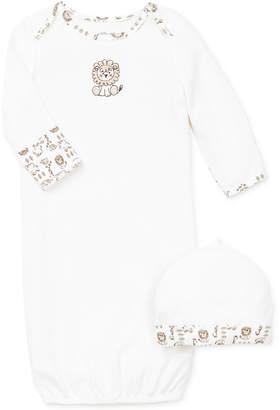 Little Me Baby Boys Safari Hat & Gown Set