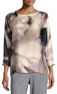 Max Mara Boatneck Silk Top