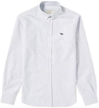 MAISON KITSUNÉ Button Down Classic Embroidered Fox Shirt