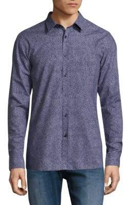 HUGO BOSS Elisha Abstract-Print Slim-Fit Shirt