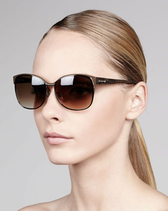 Givenchy Round Metal Sunglasses, Silvertone