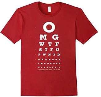 Omg Wtf Stfu - Eye Chart For Noobs T-Shirt