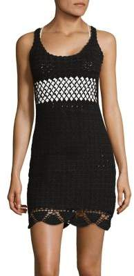 Lisa Maree Speakeasy Left Turn Crochet Mini Dress