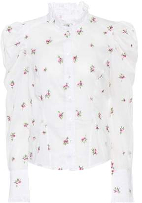 Isabel Marant Utah embroidered ramie shirt