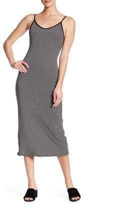 Abound Striped Tank Bodycon Midi Dress