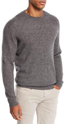 Loro Piana Men's Dunster Cashmere Crewneck Sweater