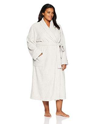 Arabella Women's Plus Size Printed Plush Robe