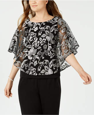 Connected Embroidered Capelet Top