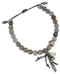 Chan Luu Women's Labradorite Leather Tassel Bracelet
