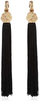 Saint Laurent Tassel Clip On Earrings