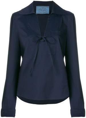 Prada wide legged cropped suit