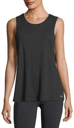 Alo Yoga Cotton-Blend Tidal Muscle Tank