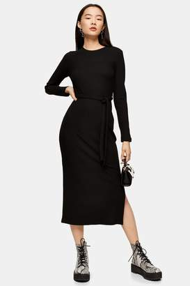 Topshop Belted Jersey Midi Dress