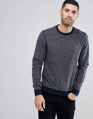 Farah Romilly Textured Sweatshirt In Navy