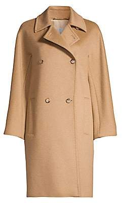 Max Mara Women's Baleari Tailored Camel Hair Coat