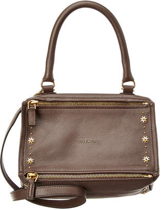 Givenchy Pandora Small Embellished Leather Shoulder Bag