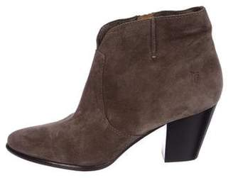 Frye Suede Pointed-Toe Ankle Booties