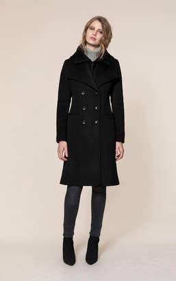 Soia & Kyo KALIA double-breasted classic wool coat with bib collar
