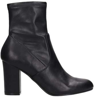 Steve Madden Actual Black Faux Leather Bootie