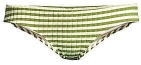 Solid and Striped Women's The Elle Ribbed Stripe Bikini Bottom