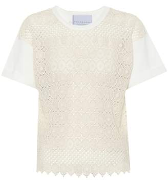 Philosophy di Lorenzo Serafini Crochet cotton top