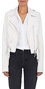 The Row Women's Perlin Leather Moto Jacket - Off White