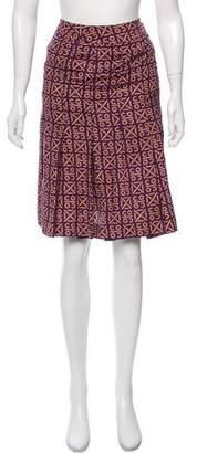 Chanel Silk Coco Printed Skirt