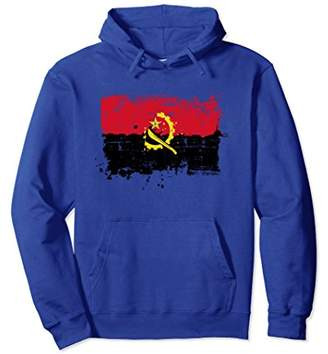 Angola Flag Hoodie Distressed Vintage Style