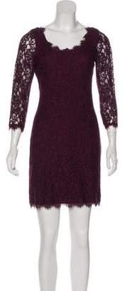 Diane von Furstenberg Three-Quarter Sleeve Mini Dress