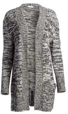 Akris Punto Chunky Melange Wool-Blend Midi Cardigan