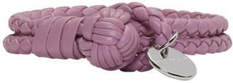Bottega Veneta Purple Intrecciato Knot Bracelet