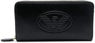 Emporio Armani logo embossed wallet