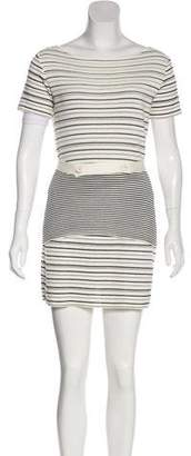 Christian Dior Striped Skirt Set