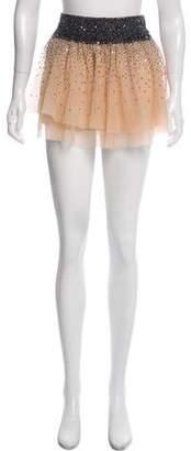Haute Hippie Embellished Mini Skirt w/ Tags