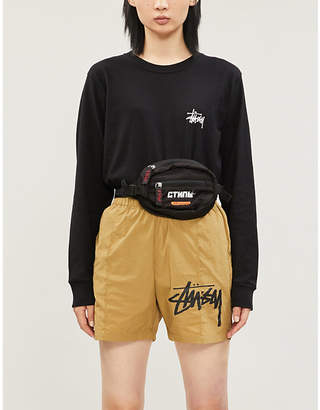 Stussy Brand-print cotton-jersey T-shirt